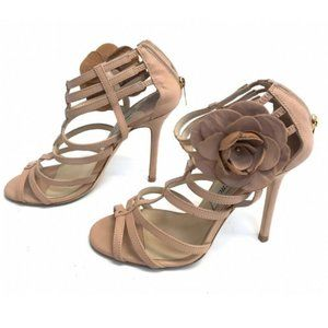 JIMMY CHOO AUTHENTICATED Leather Heels Strappy